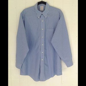 Brooks Brothers Men's Blue Stripe 16 1/2 ~ 2/3